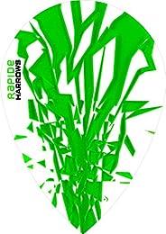 10 x Sets Harrows Rapide Green Dart Flights Pear