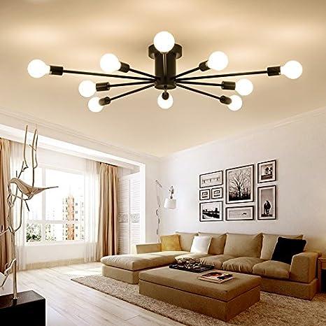 iluminación moderna Lámparas forja la de minimalista shrBCtQdxo