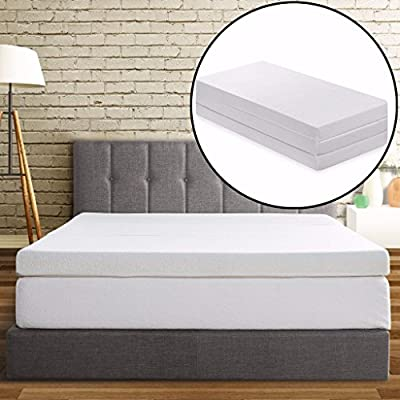 "Best Price Mattress 4"" Trifold Memory Foam Mattress"