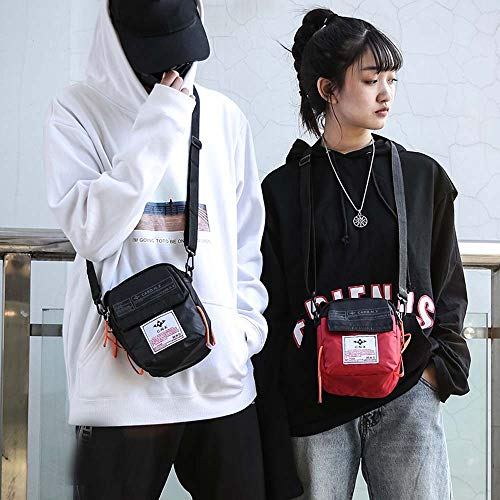 Couple Shoulder Messenger Bag Portable Sports Leisure Backpack Mobile Phone Bag by JSPOYOU