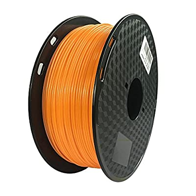Orange 3D Printer PC Filament 1.75mm, Dimensional Accuracy +/- 0.05mm, 1KG Spool (2.2LBS), 3D Printing Polycarbonate Material