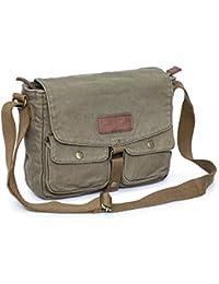Canvas Messenger Bag - Vintage Crossbody Shoulder Bag Military Satchel
