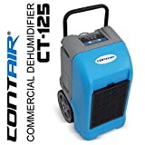 Contair® CT-125 ETL Certified Commercial Industrial Grade Portable Dehumidifier Humidity Controller Blue