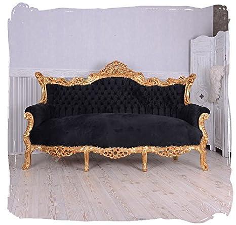 Barocco divano antico nero oro divano Retro salone stile barocco ...