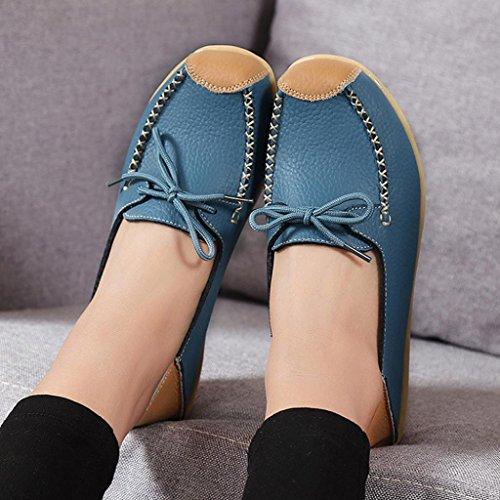 c2b793f09 ESAILQ Calzado Pisos Elegante Cuero Zapatos Plano De Proteccion Para Fiesta  Mujer A Chic