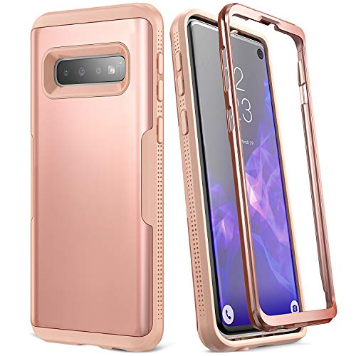 YOUMAKER Case for Galaxy S10, Rose Gold Heavy Duty Protection Full Body Shockproof Slim Fit Without Built-in Screen Protector Case Cover for Samsung Galaxy S10 6.1 inch (2019) - Rose Gold/Pink Dedicated Digital Camera Cases