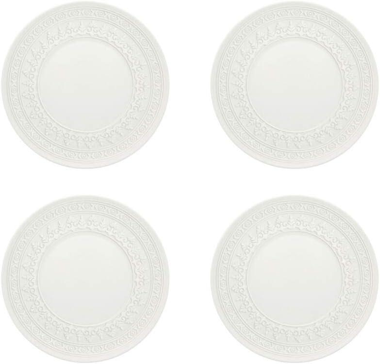 Set of 4 Vista Alegre Ornament Bread /& Butter Plate