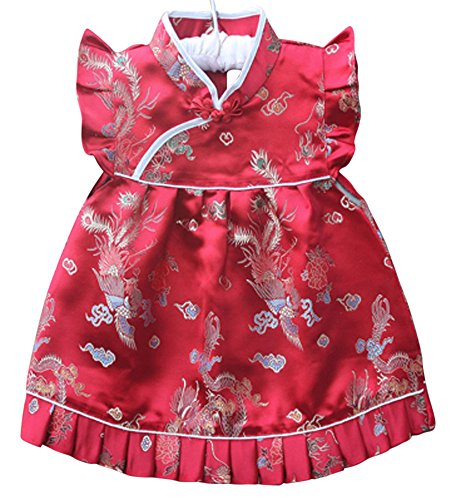 Baby Chinese New Year Costumes - CRB Fashion Baby Toddler Kids Girls Qipao Celebration Chinese New Years Asian
