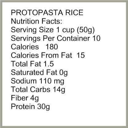 Amazon.com : $2.00 Off! Protopasta Rice - High Protein Rice Pasta, Low Carb Rice Pasta, Sugar Free, Great for Weight Loss, Low Carb Dieters, Diabetes, ...