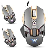 XCSOURCE COMBATERWING USB Wired Professional Ergonomic Gaming Mouse with 7 Buttons, Adjustable DPI up to 3200 TH584