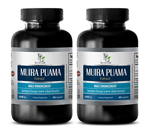 enhancement pills - MUIRA PUAMA EXTRACT - MALE ENHANCEMENT - INCREASES ENERGY LEVELS - LIBIDO BOOSTER - brain memory supplements - 2 Bottles (180 Capsules) by PL NUTRITION