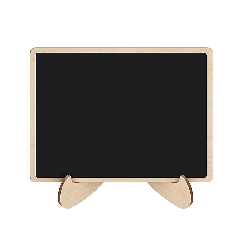 Lorsoul 10pcs Mini Tafel Holz-Vierecks-Form Brett Hochzeit Tischdekoration Nachricht Hinweis Kleine Tafel