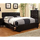 247SHOPATHOME IDF-7009CK Platform-Beds, California King, Espresso