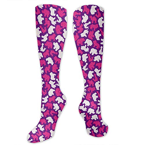 Frosted Animal Cookies PurpleLarge Funny Athletic Socks Best
