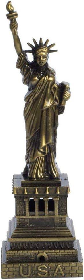 PROW Bronze Statue of Liberty Statue Famous Architecture Figurine Living Room Vintage Home Decor for Unique Gifts Desktop Decoration Souvenir (6 Inch)