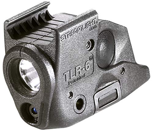Streamlight 69291 TLR-6 Tactical Pistol Mount Flashlight 100 Lumen with Integrated Red Aiming Laser Only for Springfield Armory XD Railed Hand Guns, Black - 100 Lumens (Best Xdm Laser Sight)