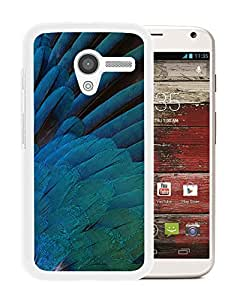 Blue Feathers (2) Durable High Quality Motorola Moto X Phone Case