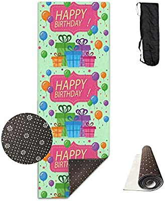 LoveBiuBiu Yoga Mat Non Slip Happy Birthday 24 X 71 Inches ...