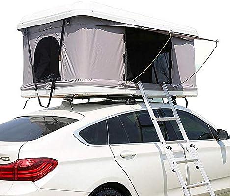 Tienda de techo, ABS duro superior coche protector solar impermeable semi-automático de la carpa del coche de la cima de la cama móvil, protección UV,Cama portátil Desert Snow Mountain (sin coche): Amazon.es: