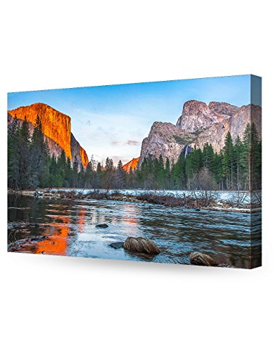 DECORARTS View of El Capitan at Sunset, Yosemite National Park. Giclee Canvas Prints for Wall Decor. 30x20 x 1.5 (Print Sunset Photographic)