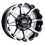 4/156 STI HD6 Alloy Wheel 12x7 4.0 + 3.0 Machined/Black for Polaris SPORTSMAN 450 H.O. 2016-2018