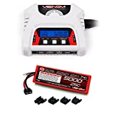 Venom 25C 2S 5000mAh 7.4V Hard Case LiPo Battery with Universal Plug System and Venom 2-4 Cell AC/DC Dual LiPo Battery Balance Charger Combo
