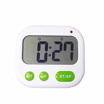 Reloj temporizador de alarma vibrante vibra silent reloj reloj electrónico luminoso creativo: Amazon.es: Hogar