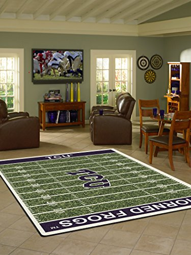 Texas Christian Horned Frogs 3' 10'' x 5' 4'' Home Field Area Rug by Milliken
