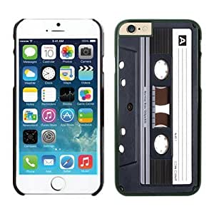 Iphone 6 Case 4.7 Inches, Audio Cassette Classical Design Black Hard Back Cover Case for Apple Iphone 6