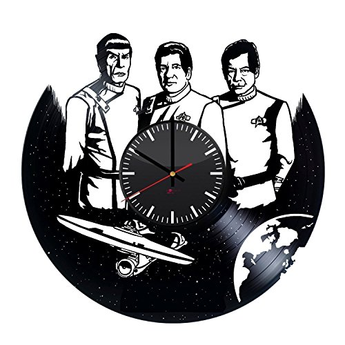 Female Vulcan Costumes (Star Trek Handmade Wall Clock Made From Used Vinyl Record - Get unique home or office wall decor - Gift ideas for men and women – Fantasy Film Characters Unique Art Design)