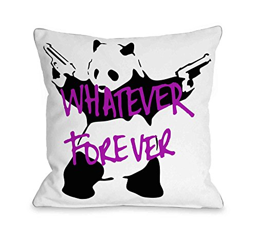One Bella Casa Panda Whatever Forever Throw Pillow by Banksy, 18