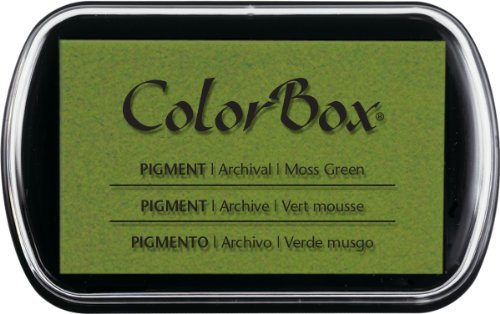 - CLEARSNAP 150000-15062 ColorBox Pigment Inkpad, Moss Green