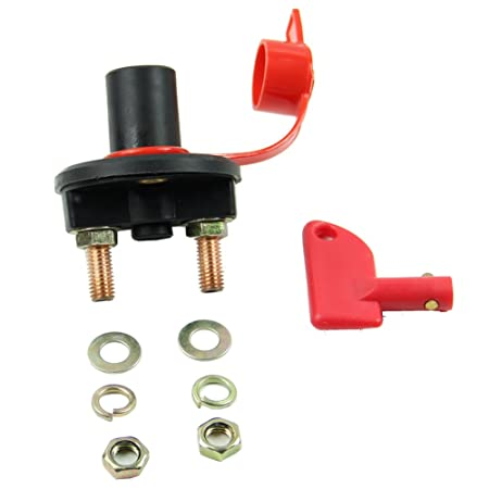Estone Car Battery Disconnect Master Kill Switch Cut Off Marine RV With Removable Key