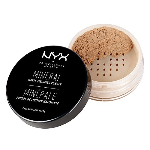 NYX Professional Makeup Mineral Finishing Powder, Medium/Dark, 0.28 Ounce