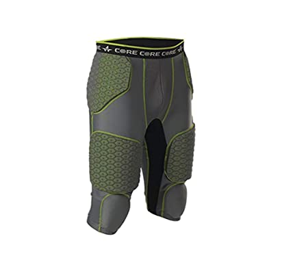 8df7e9dcc88 Alleson Athletic Boy s Integrated 7 Padded Football Girdle