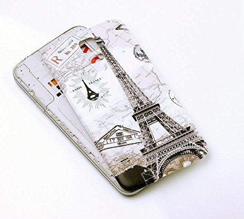 Nsiucion Samsung Galaxy S5 Battery Back Cover Case [with Rubber Seal Waterproof Gasket], Housing Replacement Plastic Back Cover Case for Samsung Galaxy SV S5 i9600 G900 (Retro Paris Eiffel Tower) (Doors Retro)