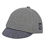 ❤️ Mealeaf ❤️ Toddler Baby Girl Boy Cute Letter Soft Eaves Baseball Cap Sun Beret Hat Striped(0-1 Years )