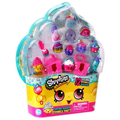 Shopkins Cupcake Queens Sprinkle Party Playset Of 12 2 Cake Boxes
