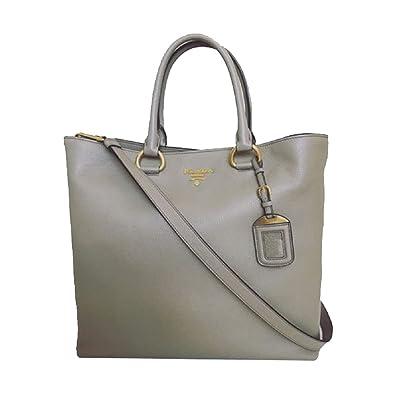 ... leather adjustable strap. e8ca3 691ae  canada prada womens gray vitello  phenix shopping tote top handle bag shoulder bag 1bg865 daec7 5ac3c fc9101c405d6a