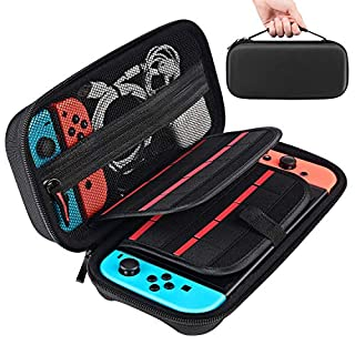 Tyuobox Carrying Case for Nintendo Switch with 20 Games Cartridges Protective Hard Shell Travel Switch Pouch for Nintendo Switch Console & Accessories, Black
