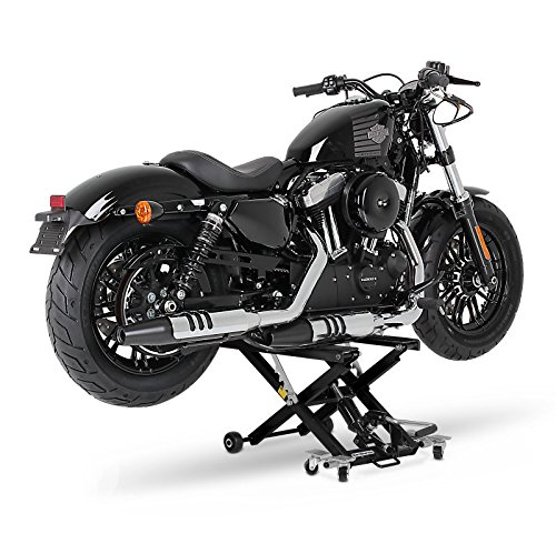ConStands Motorbike Motorcycle jack lift Mid-Lift black for Harley Davidson Dyna Fat Bob (FXDF), Dyna Low Rider (FXDL/I)