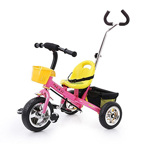 Outdoor Travel Baby Strollers Steel Lightweight Children's tricycle Suitable for 2-6 Years Old Kids , Pink