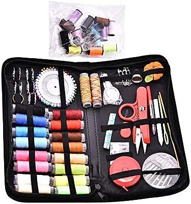 Sue-Supply 138 Piezas Kit para Coser Hilo de la Aguja Kit de Herramientas para Coser Manual Kit de Costura con Cesta para Coser: Amazon.es: Hogar