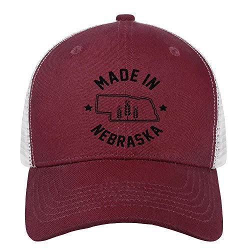 FPPING Made in Nebraska Design Unisex Novelty Relaxed Fit Mesh Snapback Baseball Cap Adjustable