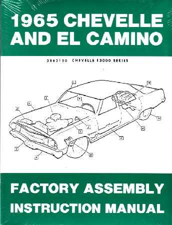1965 CHEVROLET CHEVELLE EL CAMINO Assembly Manual (Chevelle Front Bumper Bolt)