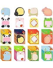 640 Vellen Sticky Notes, Zelfklevende Verwijderbare Creatieve Sticky Notes 8 Verschillende Schattige Dieren voor School, Kantoor Memo, Feestjes
