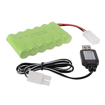 Tutmonda 7.2V 2400mAh Batería Recargable de Ni-CD con KET ...