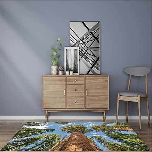 Extra Thick Comfortable Rug huge sequoia trees in sequoia national park california usa for Living Room Dining Room Family W35.5 x L47 (Lifestyle California Living Room Table)