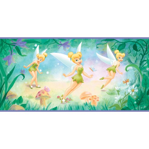 Imperial Disney Home DF059271B Tinkerbell Flower Border, Purple 10.25-Inch Wide