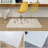 Office Desk Chair Mat, Teletrogy Polycarbonate Floor Mat for Home & Office Hardwood, Carpet, Tile, Laminate, Concrete and Vinyl Floors 35'' X 47''